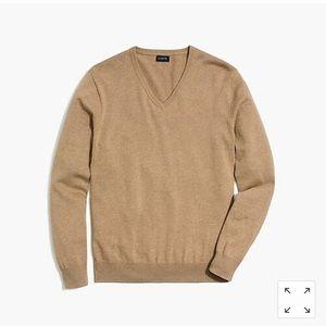 J Crew tall Men's V Beck Sweater